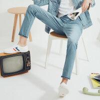 【超级品牌日,价比双11全场1件3折,11.17日前2小时到手价:37.5】美特斯邦威牛仔裤男秋季男装潮流男士裤子微弹