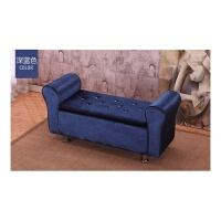 实木布艺换鞋收纳凳卧室床尾凳服装店沙发凳欧式储物凳试衣间凳子