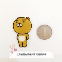 韩国原宿桃子文字创意动物可爱卡通动漫冰箱贴磁铁磁贴饰照片贴新 中