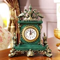 欧式复古奢华金钟高档别墅卧室创意古典座钟桌面装家居饰台钟摆件 10英寸