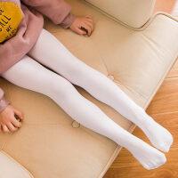 女童连裤袜春秋冬薄款袜子公主舞蹈袜白色丝袜宝宝裤袜儿童打底裤yly