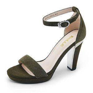 Belle/百丽专柜同夏款羊绒皮革女皮凉鞋BFEA5BL7