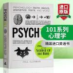 101系列 心理学 英文原版 Psych 101 Psychology 英文版原版书籍 精装进口英语书 Paul Kle