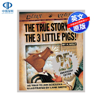 英文原版 三只小猪的真实故事 The True Story of the Three Little Pigs 精装 儿童