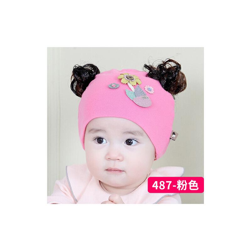 假发帽子女宝宝可爱新生儿帽子薄款公主帽春秋婴儿帽0-3-6-个月8034  均码 0-个月 发货周期:一般在付款后2-90天左右发货,具体发货时间请以与客服协商的时间为准