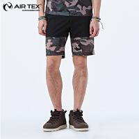 【满300元减100元】AIRTEX亚特户外速干透气运动跑步健身男式五分短裤