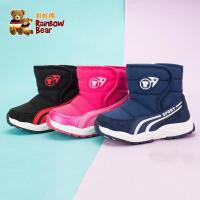 宝宝雪地靴1-3岁加绒防滑棉靴218新款秋冬季小童男童短靴女童靴子