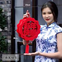 福字大红灯笼 春节过年宫灯挂件新年年货装饰布置用品小灯笼挂饰