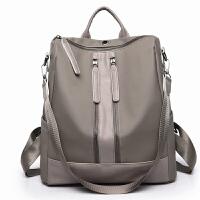 双肩包女2018新款尼龙布大容量韩版百搭女士两用旅行包背包防盗潮