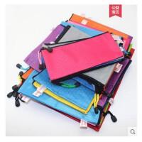 彩色文件袋定制logo A4 B5 A5 票据防水拉链袋 拉边袋 015