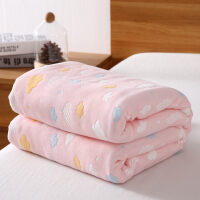 超厚毛巾毯纯棉毛巾被儿童婴儿双人单人六层纱布夏季薄款被子午休午睡小毯子