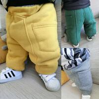 婴儿秋装裤子女童加绒加厚打底裤1-3岁6男宝宝新生儿长裤冬装棉裤