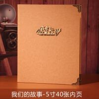 情侣家庭宝宝成长纪念册 全竖版5寸相册插页式影集相册本320张