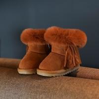 宝宝雪地靴2018冬季韩版新款1-3岁男童加绒保暖婴儿靴子小童棉鞋
