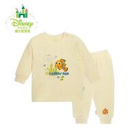 迪士尼Disney童装婴儿保暖内衣套装秋冬男女宝宝加厚衣服154T625