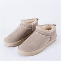 雪地靴女短筒2018新款雪地棉冬季韩版潮低帮一脚蹬百搭学生面包鞋SN5762