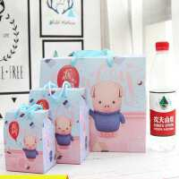 满月酒空盒满月糖果礼盒猪宝宝浪漫公主糖果盒粉色礼袋宴请精致