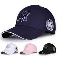 帽子男女韩版棒球帽潮夏季休闲百搭鸭舌帽黑色学生遮阳防晒太阳帽