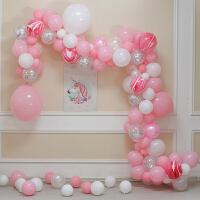 家居生活用品宝宝儿童生日派对布置用品商场活动开业节庆黑色系气球链装饰