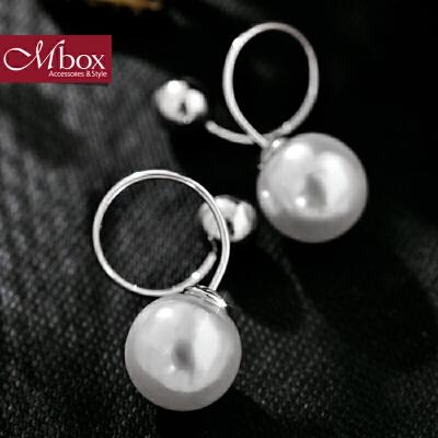 新年礼物Mbox耳环 气质女款韩国版采用波西米亚风贝珍珠耳钉耳环 珠光流转韩版潮流 小资原创 送精美包装