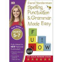 现货DK出版Made Easy系列KS1: Ages 5-7 轻松拼写 标点和语法英文原版Spelling, Punct