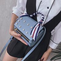 韩版时尚女包丝巾手提包2020夏季新款包包珍珠潘多拉包单肩斜挎包