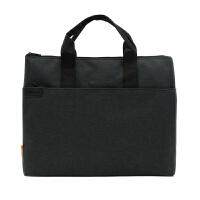 公事包办公文件包帆布A4多层拉链资料袋商务会议手提包男女手拎包