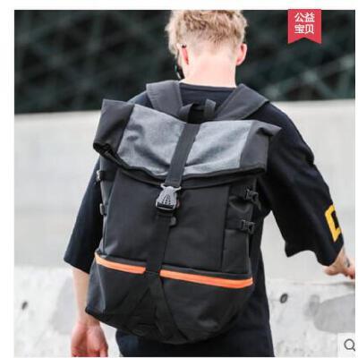 户外大容量双肩包男短途背包大学生书包旅行包运动健身休闲篮球包训练 品质保证 售后无忧 支持货到付款