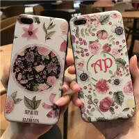 iPhone X手机保护壳 苹果X花卉手机壳 iPhone 8手机壳 8PLUS保护壳 苹果8花卉保护壳苹果7浮雕手机