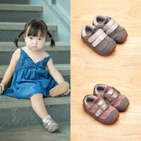 冬季学步鞋加绒宝宝鞋子女1-3-5岁软底婴儿棉鞋二棉机能鞋