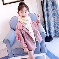 女童风衣春秋韩版中大童秋季儿童装小女孩休闲外套开衫