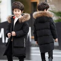 儿童羽绒服中长款中大童男童2018新款冬季韩版加厚大毛领童装