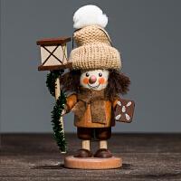 装饰挂件摆件德国香薰木偶持灯人手工装饰摆件挂件收藏价值创意礼品 现货