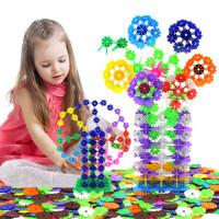益智塑料雪花片幼儿园拼插积木男女孩宝宝1-2儿童玩具3-6周岁批发
