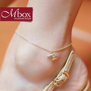 新年礼物Mbox脚链 女韩国版简约小清新动物元素设计时尚潮流憨象脚链 小象