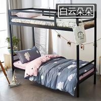 被子被褥套装学生宿舍六件套1.2米床上下铺0.9m单人床被套三件套