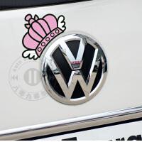 20180824063322057KITTY可爱甜美皇冠 大众嘉年华淑女汽车标志 补漆遮挡划痕车贴纸