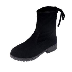 WARORWAR新品YM6-B01冬季欧美磨砂反绒平底舒适女士靴子短靴长靴
