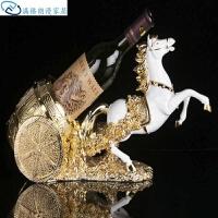 酒柜架墙酒柜酒瓶客厅葡萄酒创意红酒酒具马车展示架摆件欧式墙上白色隔断装饰家用