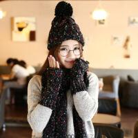 围巾手套女 礼盒装礼盒装帽子围巾手套一体女冬三件套套装冬季围脖学生