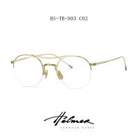 超轻纯钛眼镜架女防辐射蓝光护目平光眼镜女韩版潮配近视素颜镜男