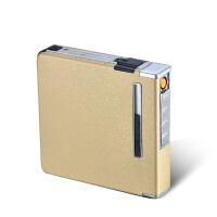 充电打火机自动装烟盒 铝合金自动烟盒20支装 USB充电 点烟器
