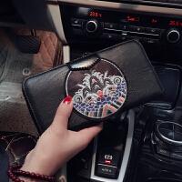 2018原创设计新款男女钱夹 潮流皮质中长款手拿钱包 大容量手机包