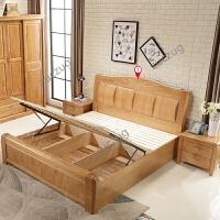 zuczug现代简约实木床1.8米双人床主卧1.5m储物高箱床新中式经济型大床