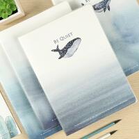创意韩国唯美学生150张加厚笔记本文具记事本日记本子B5胶套本
