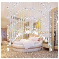 水晶珠帘玫瑰花窗帘隔断帘门帘风水装饰客厅卧室拱形挂帘窗帘