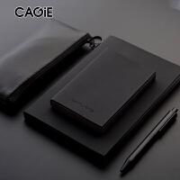 简约A5/A7创意日记本空白便携黑磨砂记事本口袋随身笔记本子定制