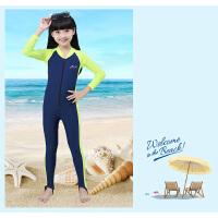 儿童连体泳衣防晒长袖全身保暖游泳衣男童水母服儿童泳衣女孩