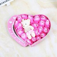 玫瑰香皂花束礼盒男友送女友朋友情侣闺蜜特别浪漫创意的生日礼物