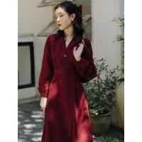 红色连衣裙2020春装新款法式复古赫本气质小个子收腰轻熟风小红裙
